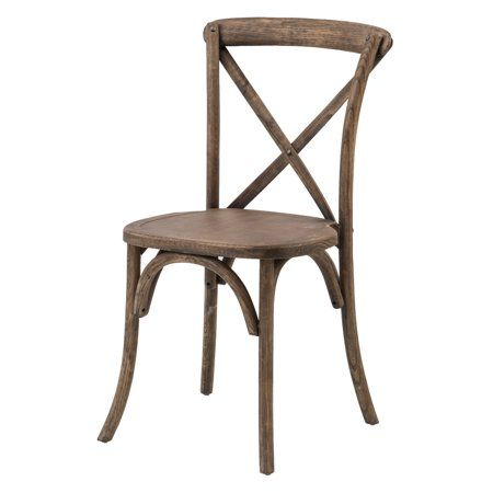 Commercial Seating Products Sonoma Rustic Cross Back Stackable Dining Chair Walmart Com Dining Chairs Solid Wood Dining Chairs Stackable Dining Chairs