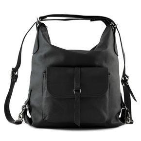 Skorzana Czarna Torebka Plecak Skora Naturalna 2w1 Kod 1645 Batica Bags 2015 Fashion Backpacks