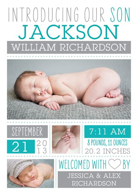Birth Announcement Baby Thank You card printed on beautiful – Birth Announcement Cards Australia