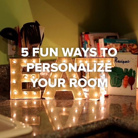 5 Fun Ways To Personalize Your Room #DIY #room