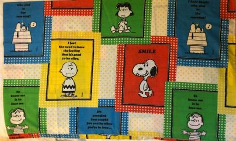 Peanuts Pillowcase 1970s Sears Standard