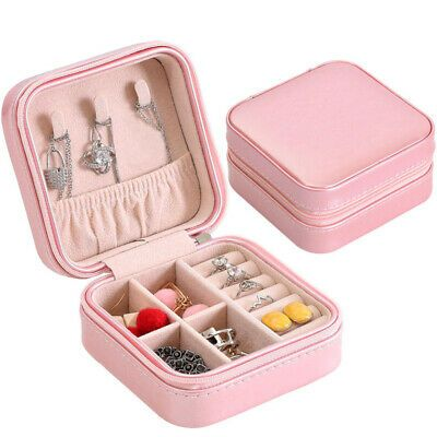Jewelry Box Storage Case Ring Earring Ornaments Necklace Case Travel Organizer In 2020 Travel Jewelry Storage Travel Jewelry Box Leather Jewelry Box