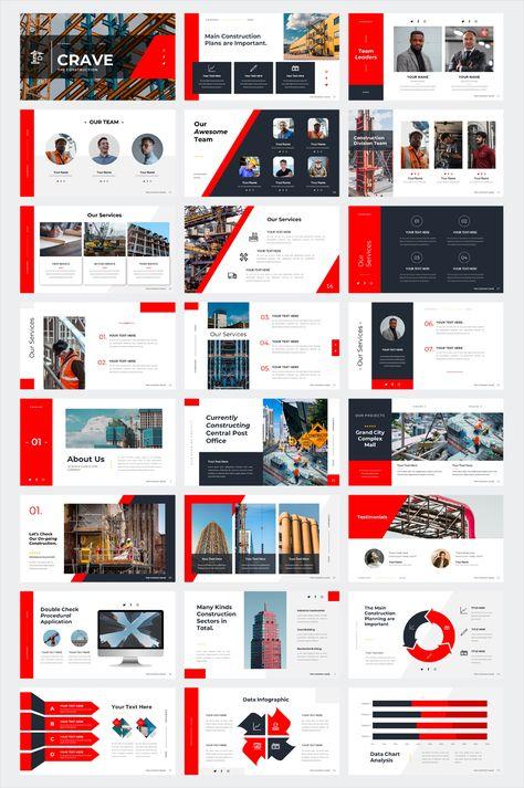 Construction Business PowerPoint Presentation Template. 40 Slides