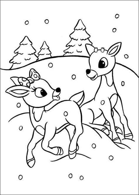 Rudolph El Reno De La Nariz Roja 4 Dibujos Faciles Para Dibujar
