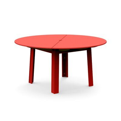 Loll Designs Fresh Air Round Plastic Dining Table Color Apple Red