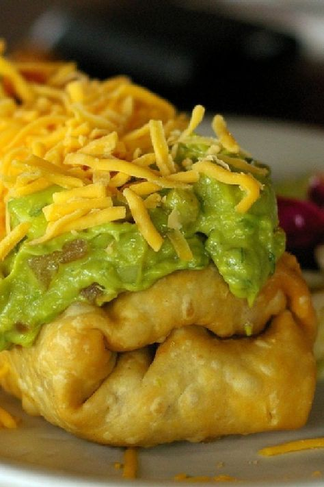 Oven-Fried Chicken Chimichangas 169 calories each as prepared!! Mexican food, #mexican #recipe