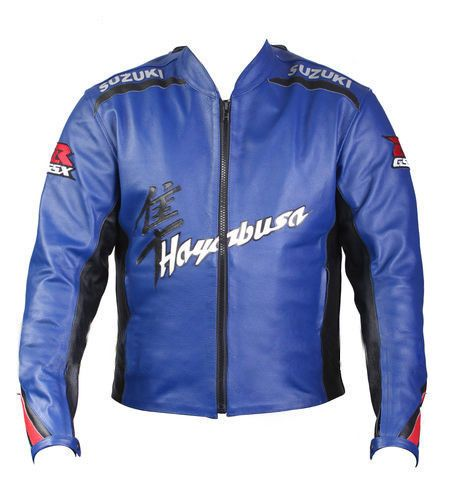 Suzuki Hayabusa Motorcycle Leather Jacket Racing Motorbike Leather Jacket