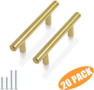 Amazon Com Gold Cabinet Pulls 3 To 3 3 8 Inches Or 3 1 2 To 3 7 8 Inches Gold Pu In 2020 Stainless Steel Bathroom Kitchen Cabinet Handles Cabinet Drawer Handles