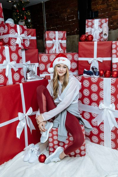 In this handout image provided by Reebok, style icon and Reebok ambassador Gigi Hadid hosts an intimate holiday celebration, joined by her closest collaborators on December 14th, 2017 in New York City.  The uplifting experience aims to inspire women to be better together in the coming year.
