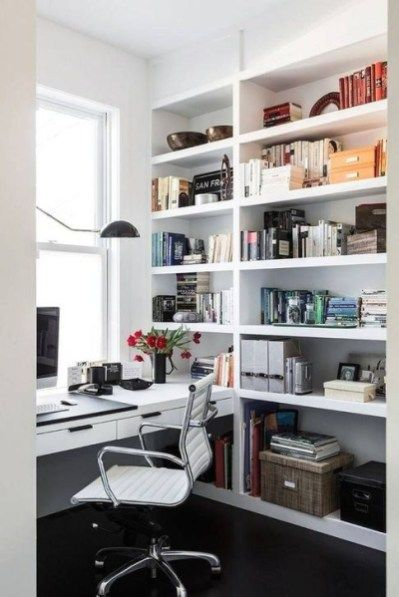 Brilliant Home Office Decoration Ideas 12 White Office Decor