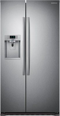 Samsung 22 3 Cu Ft Side By Side Counter Depth Refrigerator With
