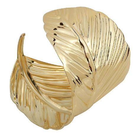Alloy Leaves Shape Design Wide Cuff Bracelet for Women - CT12O65563X - Shop, Bracelets, Cuff  #Bracelets #Braceletsforwomen #jewelry #designer #fashionwomen #Cuff