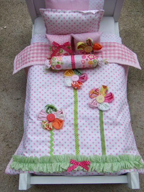 American Girl Doll Bedding 5pc Set Decorative Pillows by sashali
