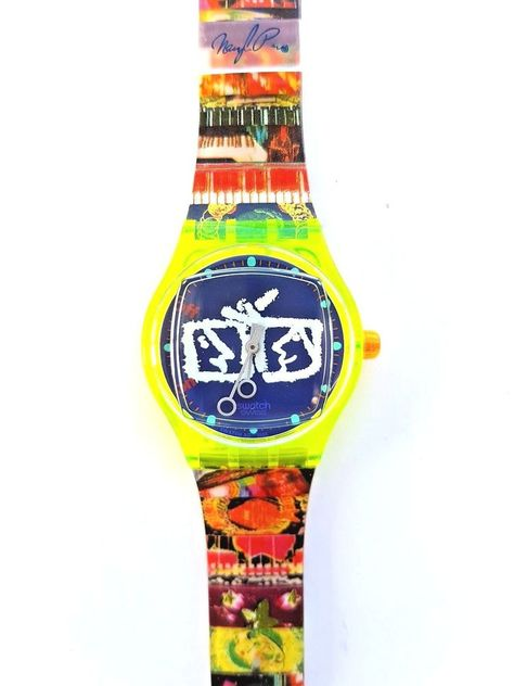 Model: # The watch and strap are highly detailed and colorful, and carry imagery from the artist's oeuvre.