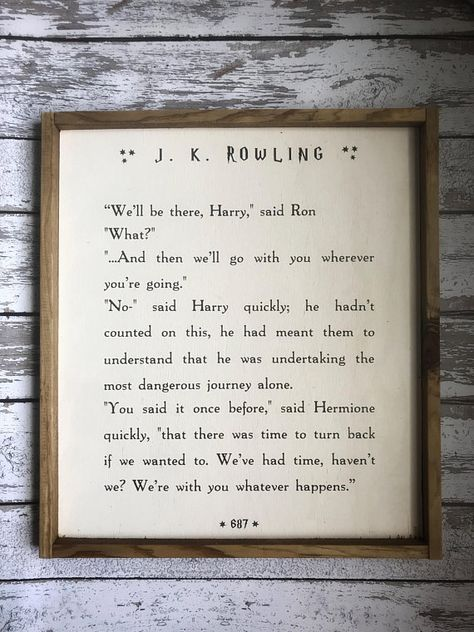 Wooden Harry Potter Fan Inspirational Quote Plaque//Sign Friend Birthday Gift