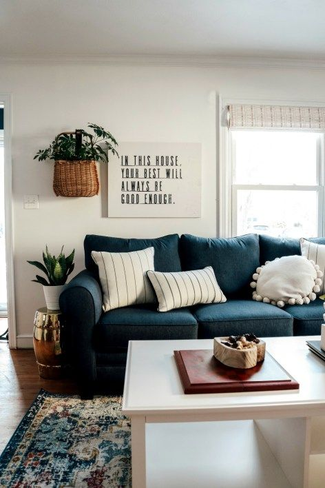 Family Room In A Small Cape Gets A Major Makeover Nesting With Grace Simple Living Room Decor Stylish Living Room Small Living Room Design