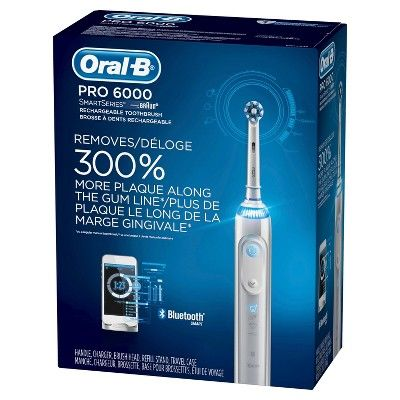 Oral B 6000 Smartseries Electric Toothbrush Powered By Braun White With Travel Case Oral Health