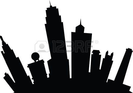 Cartoon Skyline Silhouette Of The City Of Kansas City Kansas Usa Skyline Silhouette Kansas City City Cartoon