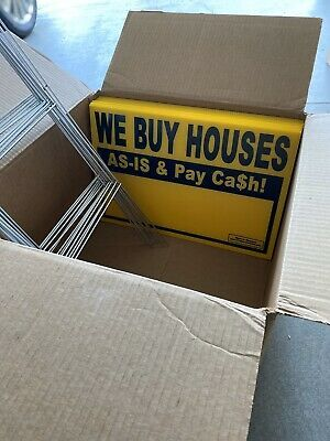Brand New 10 Pack Of We Buy Houses Yard Signs Real Estate In 2020 We Buy Houses Home Buying House Yard