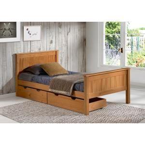 Alaterre Furniture Harmony Cinnamon Twin Bed With Storage Drawers