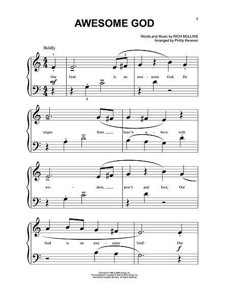 Awesome God Sheet Music Free Sheet Music Violin Sheet Music