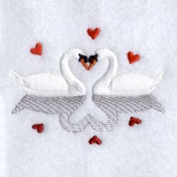 Vintage Embroidery /& Applique Pattern ~ Swans for Bath