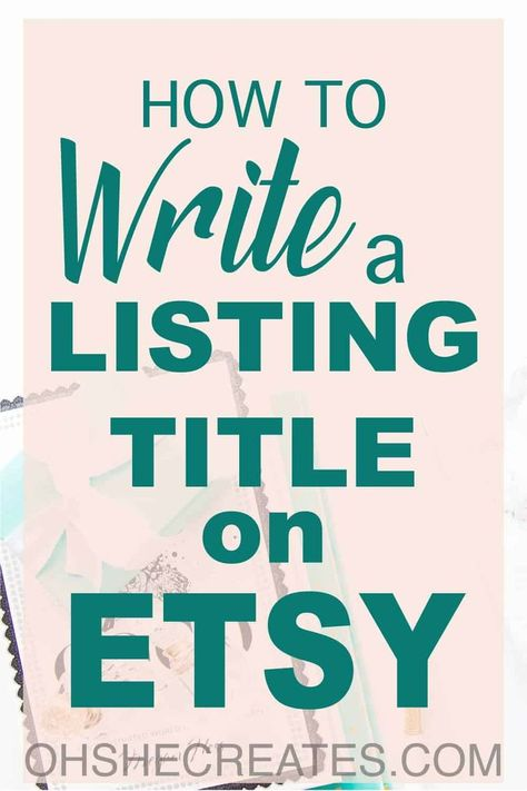 How to write a title on Etsy in 2020 | Etsy tags, Etsy business, Etsy title