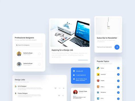 Online job boards UI Components