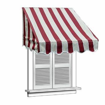 Nancy 5 Ft W X 3 Ft D Plastic Standard Door Awning Window Awnings Door Canopy Door Awnings