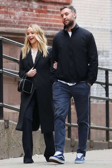 Jennifer Lawrence and Fiancé Cooke Maroney Look Happy in Love While on a Date in N.Y.C.