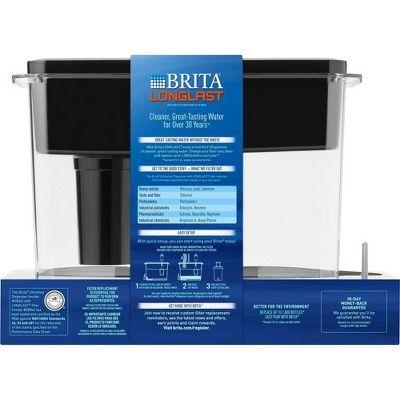 Brita Extra Large 18 Cup Ultramax Water Dispenser With 1 Longlast Filter Bpa Free Jet Black White Black Water Dispenser Water Filter Pitcher Filters