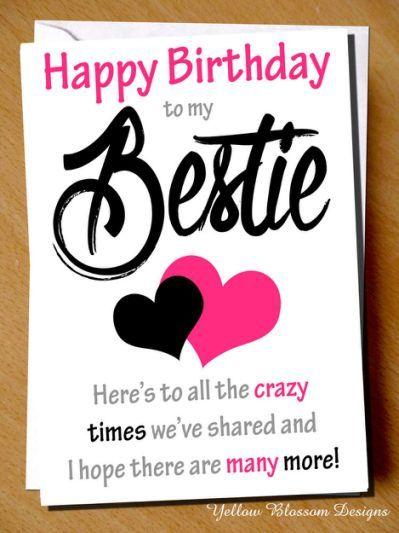 Funny Cheeky Happy Birthday Card Happy Birthday Bff Birthday
