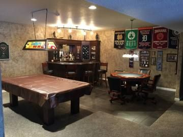 46 Sports Man Caves To Be Boss At Game Night The Handy Guy Man Cave Basement Man Cave Ideas Cheap Man Cave Room