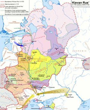 Kiovan Venaja Wikipedia Kartta Venaja Vanhat Kartat