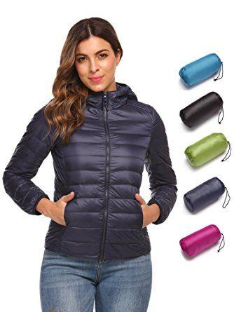 451c71da8 Corgy Women's Packable Down Jacket Hooded Ultra Lightweight Short ...