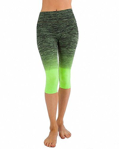 Foldover yoga waist band Neon Lime bummies