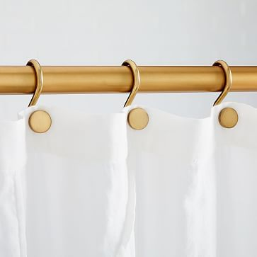 Shower Curtain Rings Polished Nickel Modern Shower Curtains