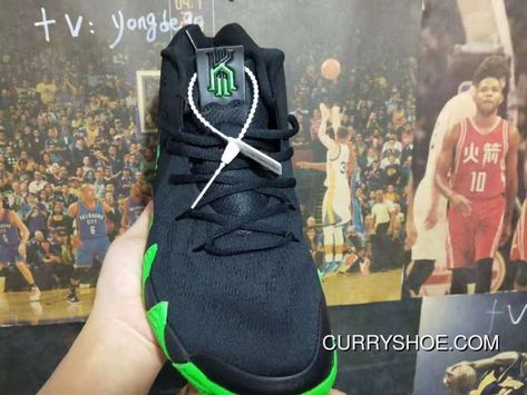 a6750c1746c4 Nike Kyrie 4 Halloween Spooky Black Green New Release