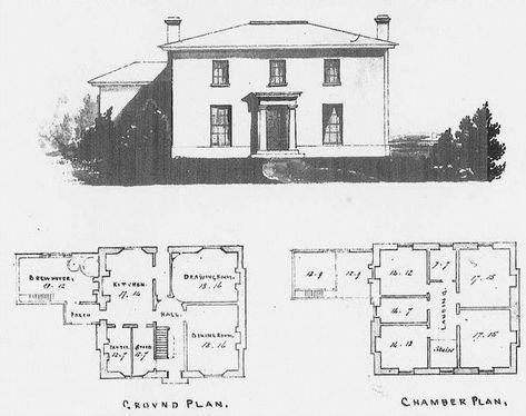 Hartest Rectory Plans Georgian Homes Farmhouse Floor Plans Vintage House Plans