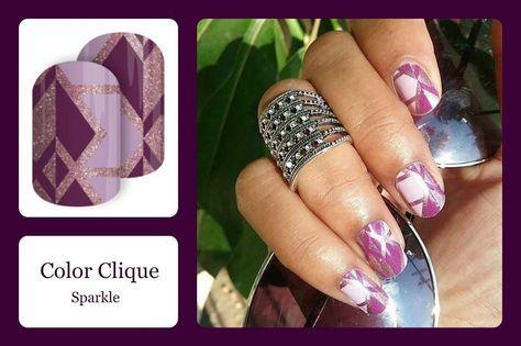 sparkle 'Colour Clique' features plum...