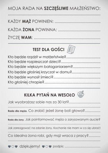 Ankieta Weselna Dla Gosci Dwustronna Pdf 7460195044 Allegro Pl Rustic Wedding Wedding Wedding Inspiration