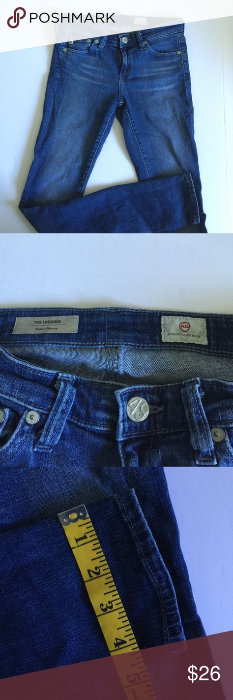 "AG Adriano Goldschmied The Legging Ankle Size 25 AG Adriano Goldschmied The Legging Ankle  Size 25. Good Condition! Wash of denim is called Freefall. Inseam is 29.5"". AG Adriano Goldschmied Jeans Skinny"