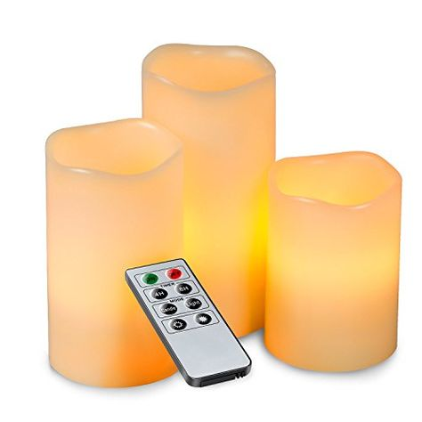 Kohree Flameless LED Candles Real Wax Remote Control Candles Battery Operated