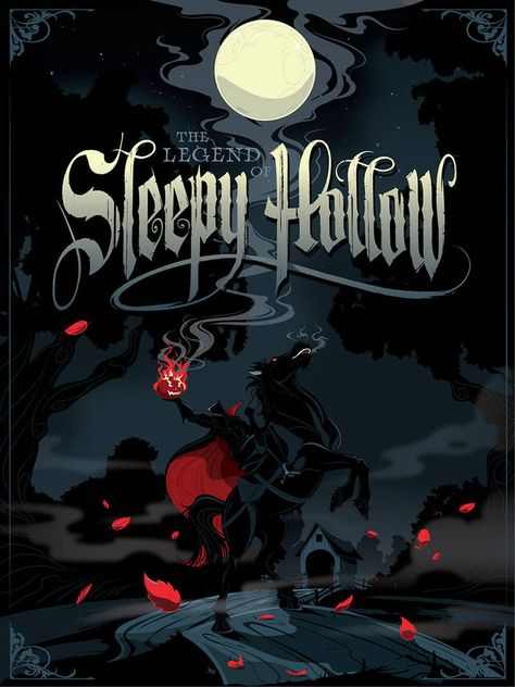 The Legend of Sleepy Hollow by MikeMahle on DeviantArt Halloween Horror, Halloween Art, Holidays Halloween, Vintage Halloween, Happy Halloween, Halloween Labels, Halloween Clipart, Sleepy Hollow Halloween, Legend Of Sleepy Hollow