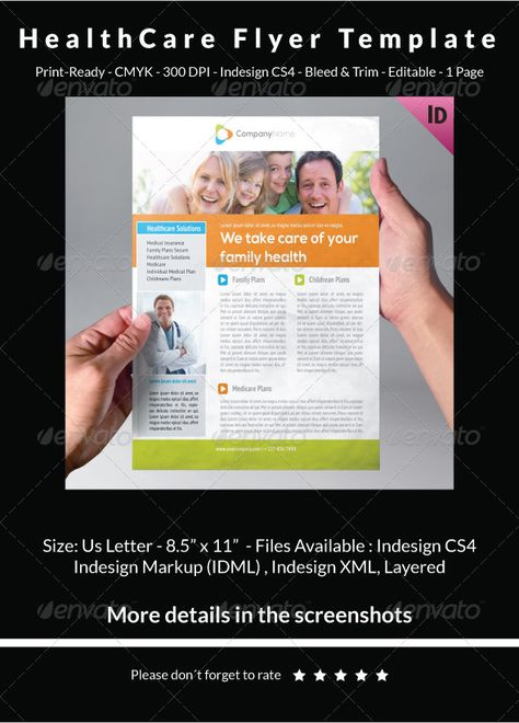A5 Half-Fold Brochure (4 pages) - Photo Included Photos and - healthcare brochure