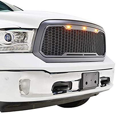 Amazon Com Tidal Raptor Style Upper Replacement Grille W Led Amber Lighting For 13 18 Dodge Ram 1500 Charcoal Gray Automo Dodge Ram 1500 Ram 1500 Dodge Ram
