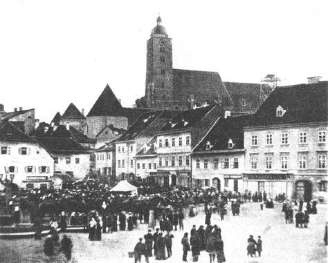 Zagreb 1862 Zagrebacka Katedrala Prije Potresa Imala Je Jedan Toranj Trg Bana Josipa Jelacica Zagreb Croatia Zagreb Croatia