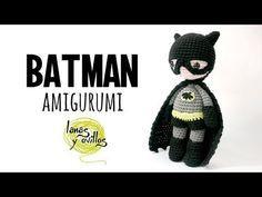 Tutorial Batman Amigurumi Serie Princesas Y Súper Héroes Lanas Y Ovillos Youtube Batman De Crochê Símbolos De Crochê Brinquedos De Crochê