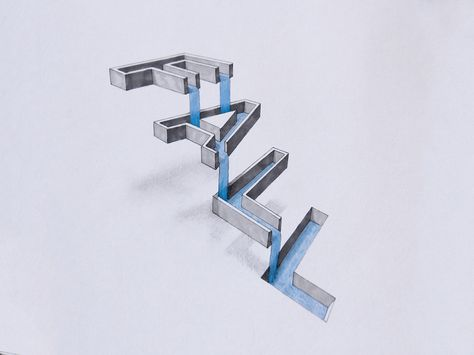Based in Nottingham, UK, British designer Lex Wilson creates awesome typographic drawings in his free time. With a clever use of perspective and 3D effects, he plays with the words and their meaning.