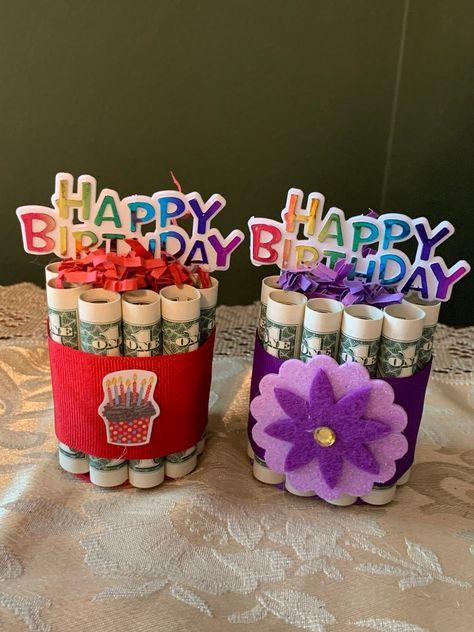 Birthday Money Gifts, Creative Birthday Gifts, Diy Birthday, Happy Birthday, Birthday Ideas, Unique Birthday Cakes, Graduation Gifts, Craft Gifts, Diy Gifts
